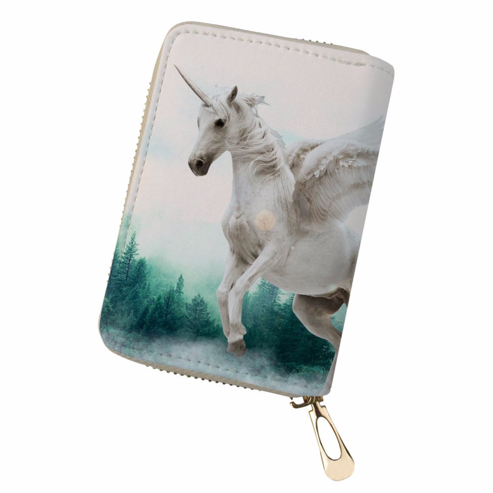 Noisydesigns retro fresh personality horse funny Women Men Credit Business Bank Cards Holder Passport PU Leather pokemon card