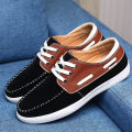 Big Size 38-47 New Boat Shoes Breathable Comfortable Moccasins Men Flats Suede Leather Lace Up Driving Shoes For Male