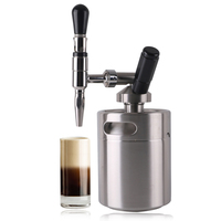 Cafe American Nitrogen Coffee Machine Stainless Steel Ice Extraction Cold Extraction Ice Drop Drip Coffee Maker Machine Silver