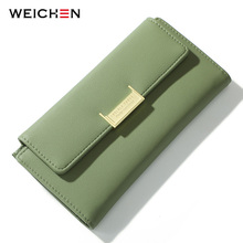 WEICHEN Many Departments Women Wallet Long High Quality Female Wallets Clutch Zipper Pocket Card Holder Ladies Purse Carteras