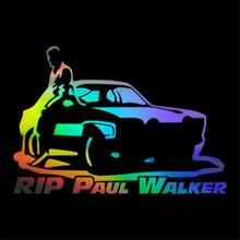Виниловая наклейка на окно автомобиля rip paul walker