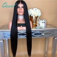 Супер длинные 24 26 28 полный шнурок человеческих волос Парики бразильского Виргинские волос предварительно сорвал средняя часть парик с ре