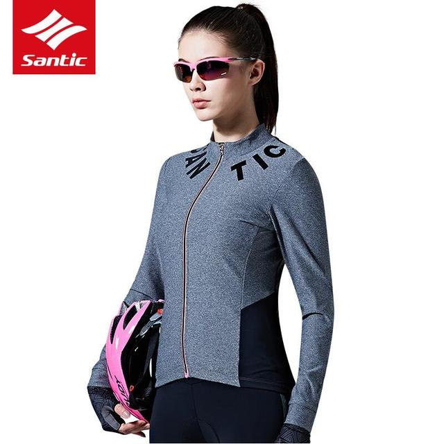 Santic Women Cycling Jersey Long Sleeve Jersey Anti-uv Breathable Bicycle  Jersey Fit Pro Fit SANTIC N-FEEL Urban Leisure Cycl a66bfb006