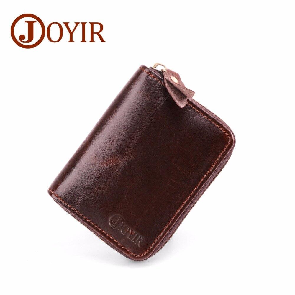 JOYIR portefeuille de cartes en cuir véritable pour hommes femmes portefeuille Porte-cartes d'affaires Carte de crédit bancaire Porte-Carte RFID