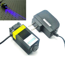 33mm*50mm 1000mW 450nm 1W Blue Laser Module Focus Dot Stage Lights Engraving w 12V AC Adapter 1w laser