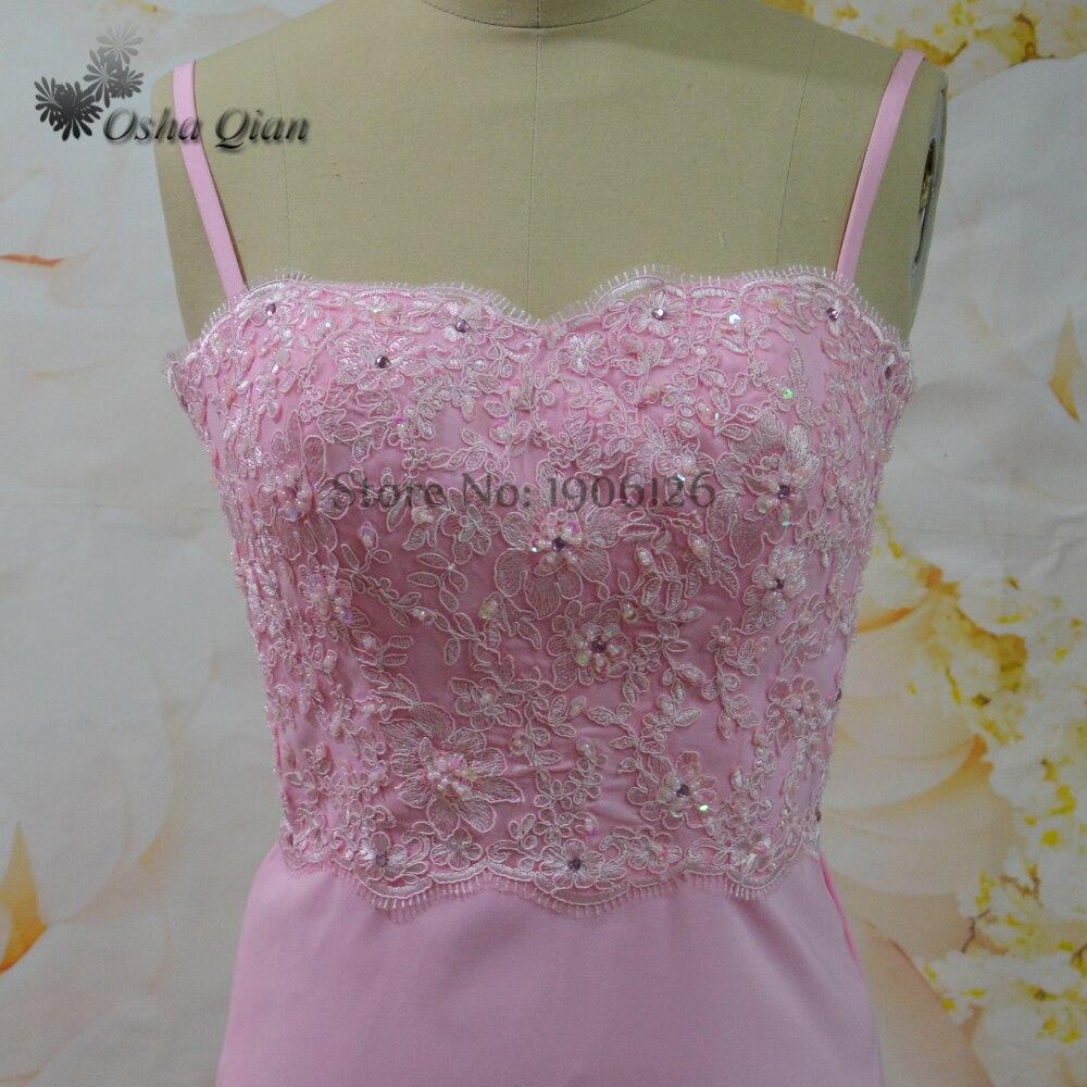 Venta caliente de Color Rosa Vestidos Largos Para La Boda Del ...