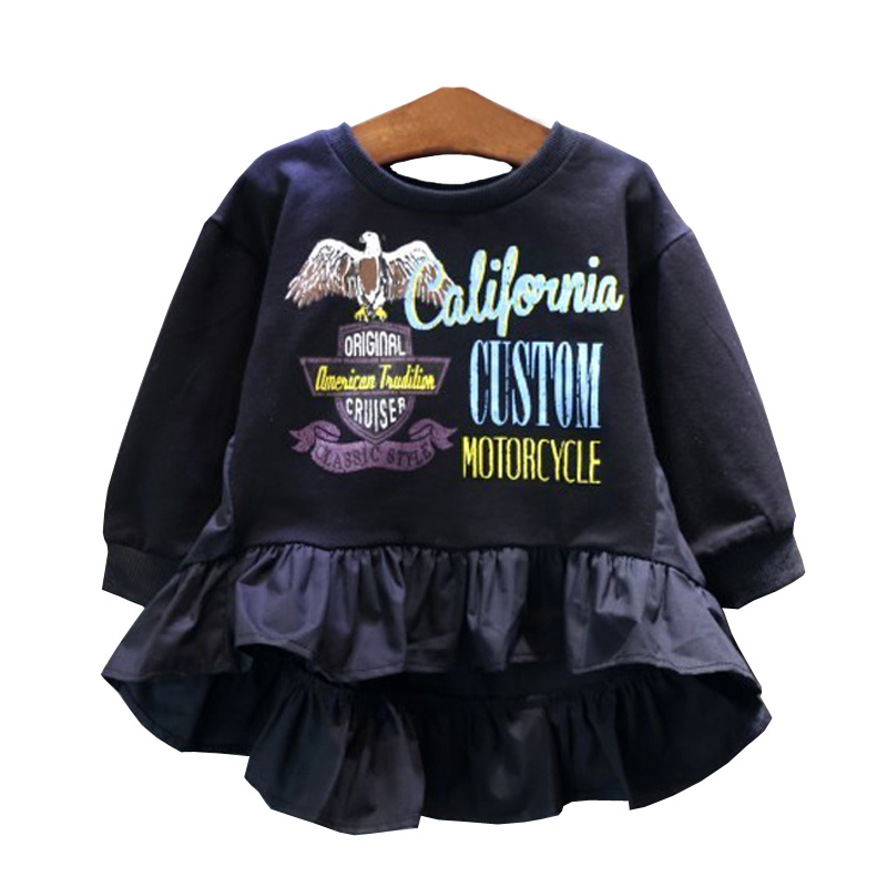 Baby Girl Ruffle Blouses Children Shirts For Girls School Clothes Kids Shirt Child Long Sleeves Patchwork Tops Spring Costumes patchwork ruffle detail top