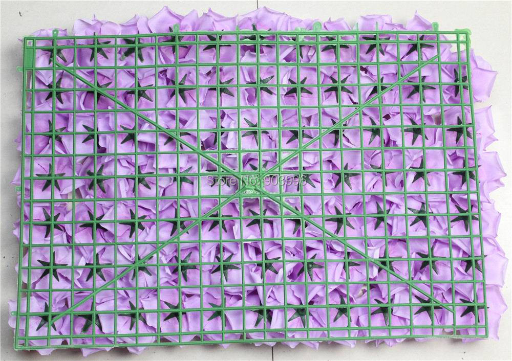 SPR Free purple Shipping 60*40cm Artificial silk rose flower wall - Festive and Party Supplies