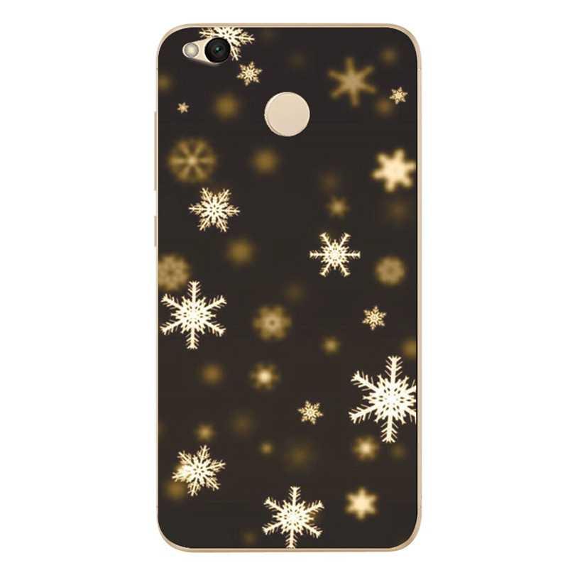 Mode Noël Flocon De Neige étui de téléphone pour xiaomi Rouge mi 4X Note 3 4 4A mi A1 Note 4 Pro Housse Coque Arrière Transparente X023