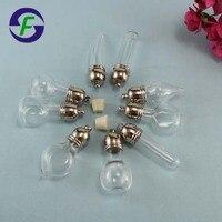 8 MM Gemengde Vormige Glazen Flacon Hanger Parfum Hanger DIY miniatuur/glas/flessen/flesjes/hanger, rijst Flacon Hanger Ketting