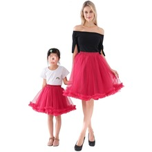 2018 Mommy and Me Family Matching Mother Daughter 6 Layers Tulle Skirt Clothes Mom And Daughter Skirts Kids Parent Child Outfits