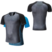 GymTraining Shirts Dry Fit Men T-Shirt Compression Style Short Sleeve Fitness Maillot Running Homme Sport Kostium Tights Men