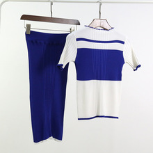 Fashion Skirt Knitted Shirt