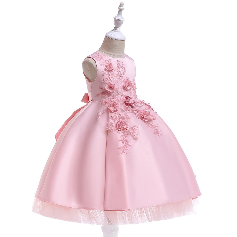 Flower Girl Dresses Pink Red Pageant Dresses for Girls Glitz Holy Communion Dresses 2019