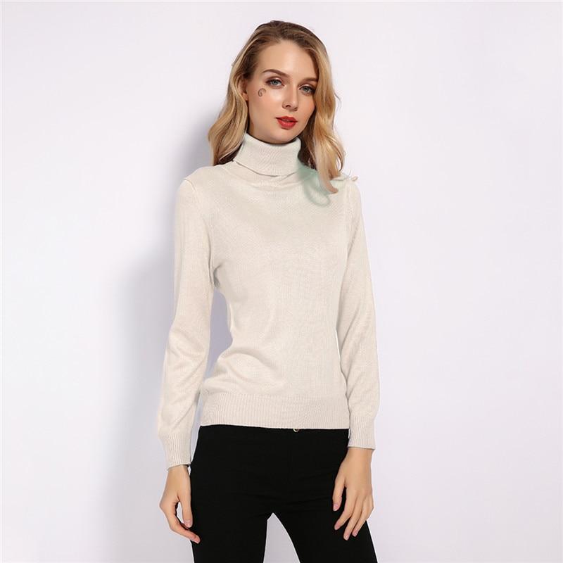 GCAROL New Fall Winter 30% Wool Turtleneck Sweater Soft Handle Warm Women Jumper OL Render Knit Pullover S-3XL 9