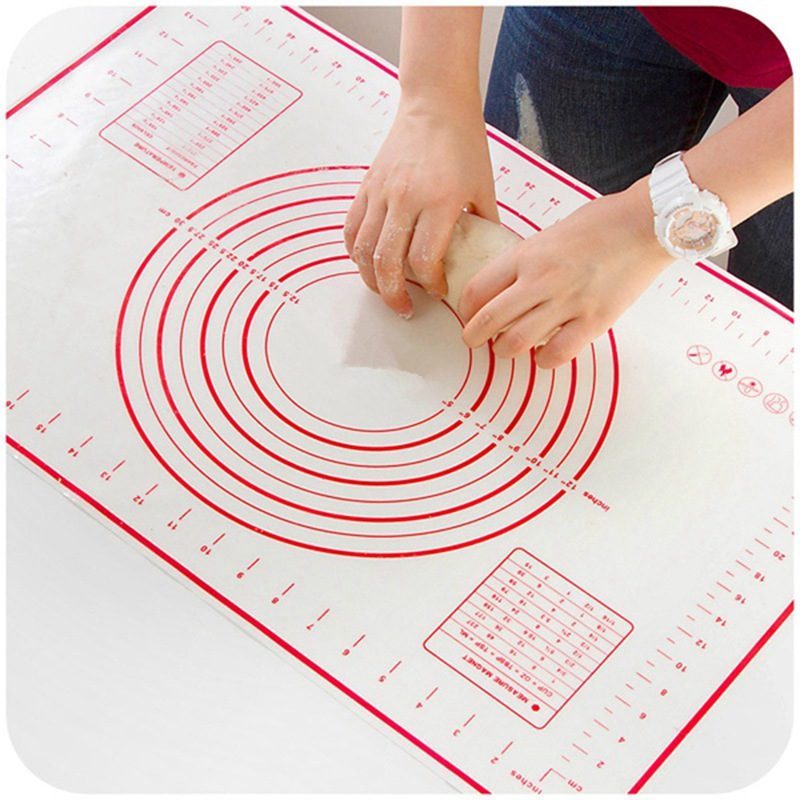 60x40cm Platinum Silicone Kneading Dough Mat Glass Fiber Reinforced Nonstick Rolling Mats Can Put the Oven Pasta Tools