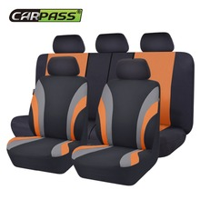 Car-pass Colorful Sports Series Car Seat Covers Universal Styling Full Set Interior Airbag Compatible