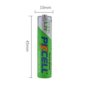 Image 2 - 20 шт. PKCELL AAA батарея 1,2 Вольт Ni MH 850mAh AAA перезаряжаемые батареи NIMH 3A Bateria Baterias для дистанционного управления