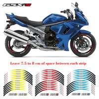 High quality Motorcycle 3 colors 17 inch Tire For Suzuki GSX S 1set front&Rear Edge Outer Rim Sticker Wheel Decals Reflective