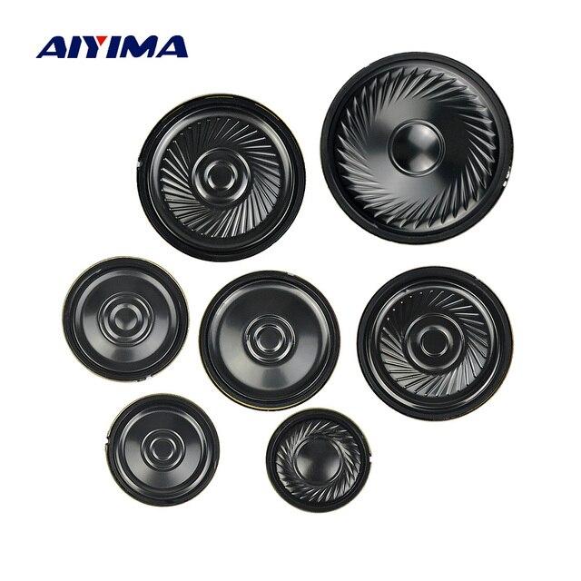 AIYIMA 10 adet Ultra ince hoparlörler 8 Ohm 0.5W boynuz hoparlör 20 23 28 30 36 40 50MM Mini hoparlör Diy