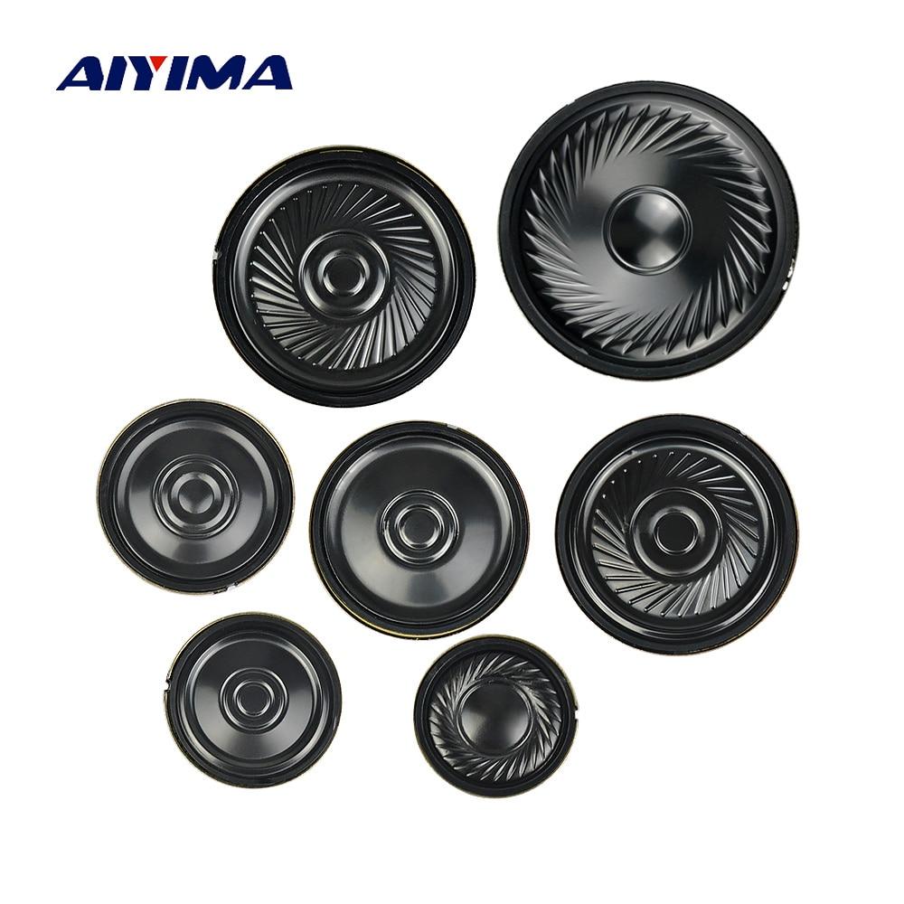 AIYIMA 10 шт. ультратонкий динамик s 8 Ом 0,5 Вт звуковой динамик 20 23 28 30 36 40 50 мм Мини громкий динамик Diy
