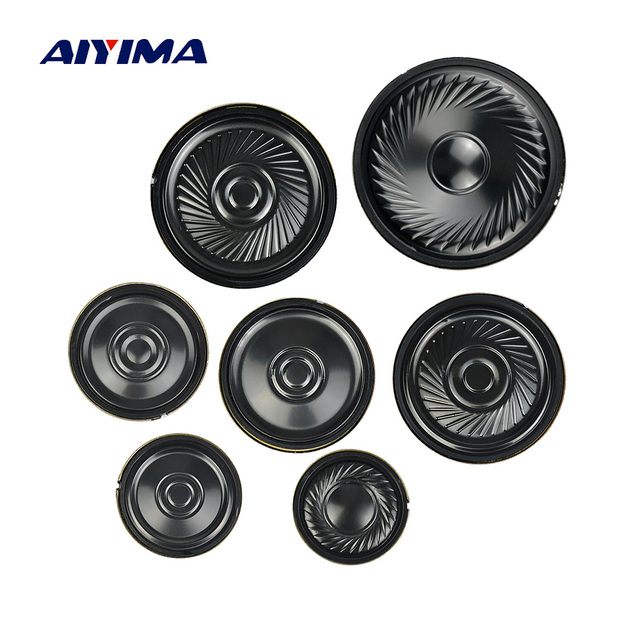 AIYIMA 10Pcs Ultra thin Speakers 8 Ohm 0.5W Horn Speaker 20 23 28 30 36 40 50MM Mini Loudspeaker Diy