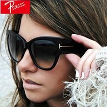 Psacss 2019 Cat Eye Sunglasses Women Brand Designer Oversized Vintage Sun Glasses Womens Retro Mirror Lunette De Soleil Femme