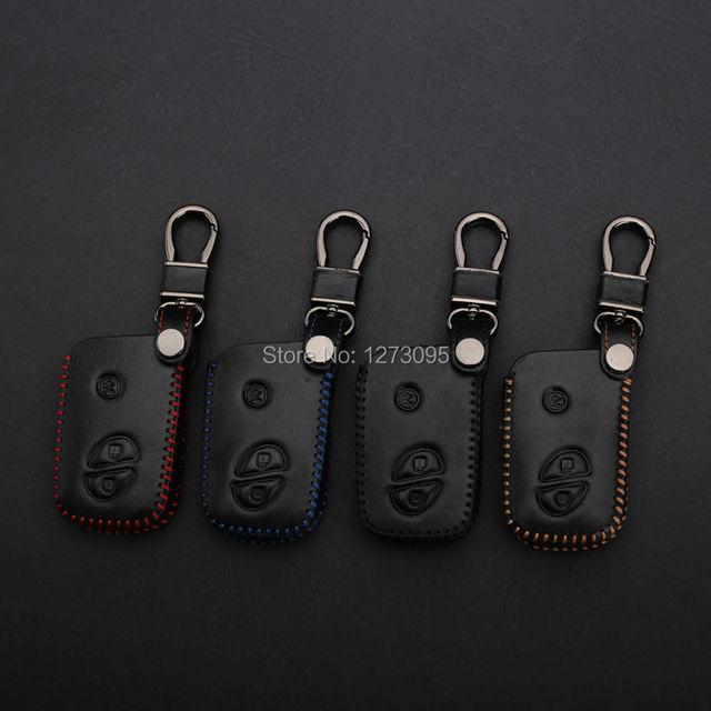 Сшитая рука Швейные Кожа Ключа Автомобиля Чехол Обложка для LEXUS LX570 LS460 LS600h GS430 GS300 RX350 RX450h Дистанционный Ключ Аксессуары