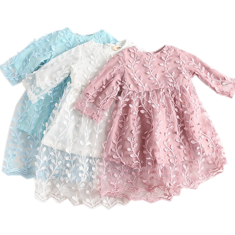 baby & kids girls summer lace leaves tulle overlay princess party dresses baby girl for party and wedding formal dress clothes high quality girls pink wedding dresses lace party tulle princess birthday dress for baby girl clothes vestidos infantis