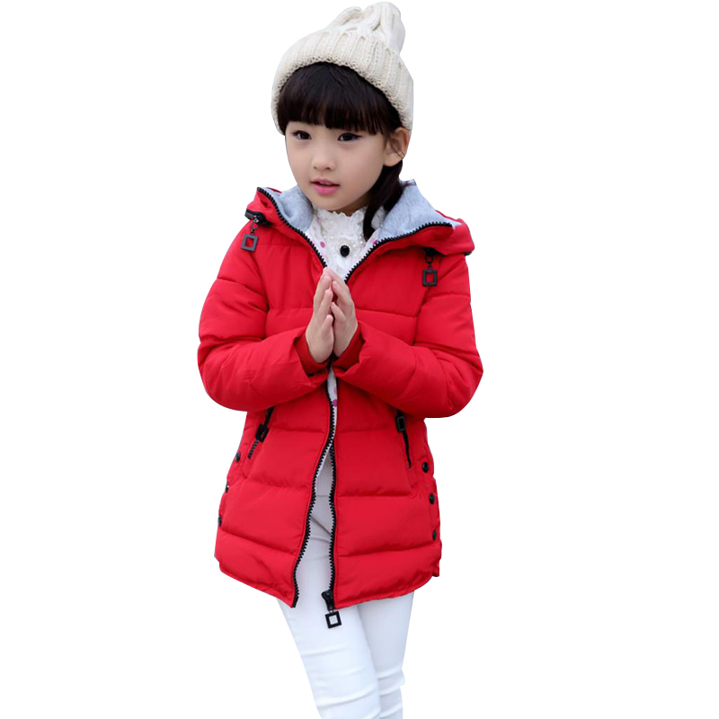 Winter Coats for Teenage Girls Cotton-Padded Warm Children's Winter Jackets 4-13 Years Girls Parka Kids Outerwear & Coat new 2017 men winter black jacket parka warm coat with hood mens cotton padded jackets coats jaqueta masculina plus size nswt015