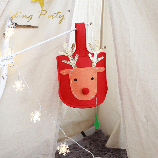 iding christmas candy boxes christmas reindeer gift bags holders christmas party deer candy bags wrapping - Christmas Candy Boxes