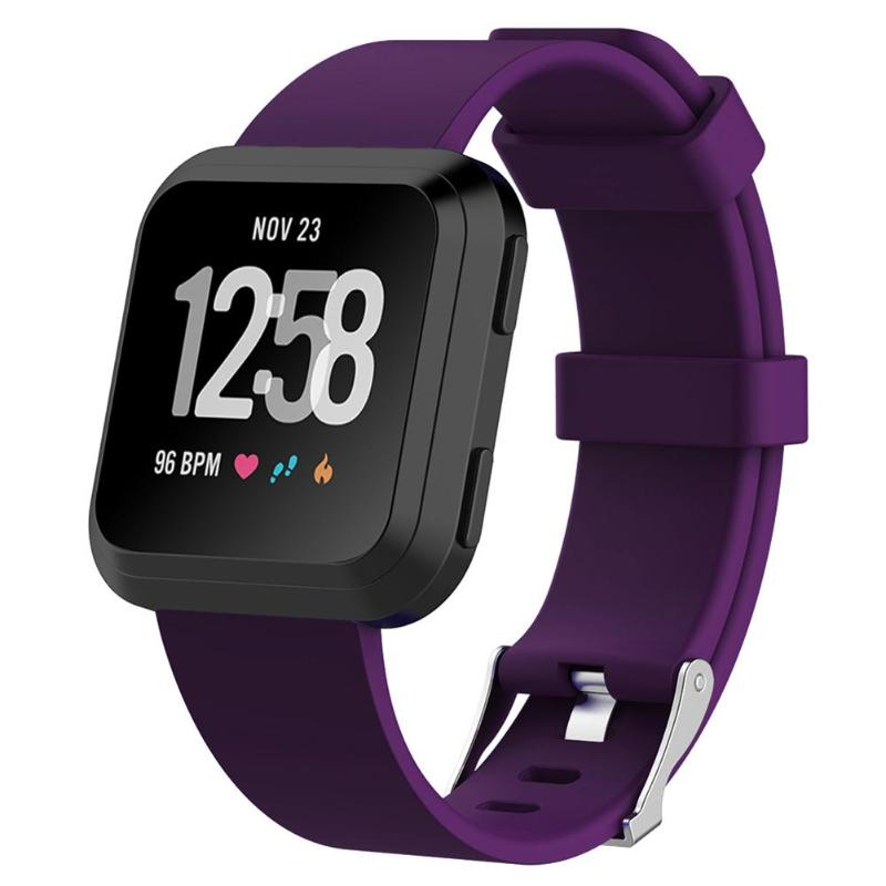 S Fashion Smartwatch Bracelet Soft Silicone Replacement Sport Wristband Watch Band Strap Belt for Fitbit Versa Smart Watch