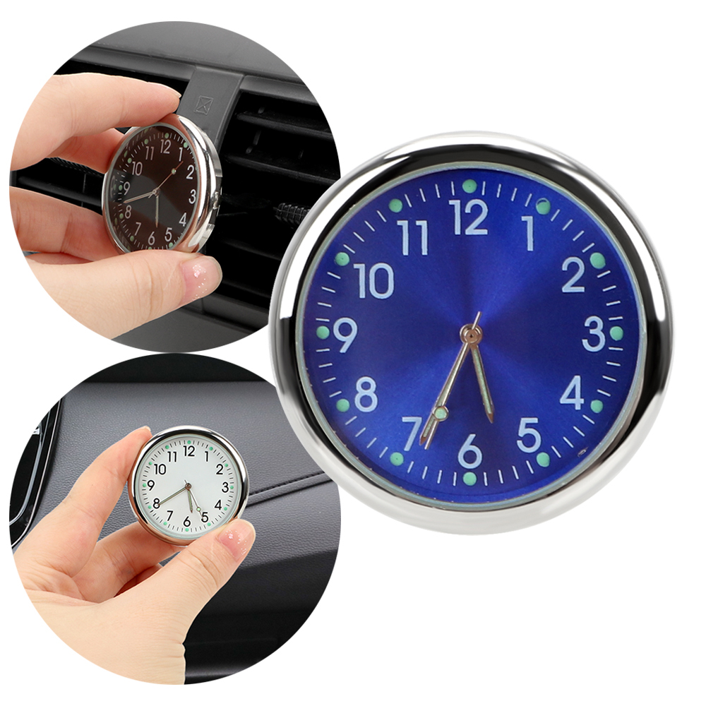 LEEPEEAuto Accessories Car Electronics Car Clock Car-styling Luminous Quartz Clocks Ornaments Analog Watch Air Outlet Decoration