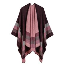 00594077f 2018 New Women's Winter Scarf Women's Cashmere Ponchos and Capes Fashion  Design Pashmina Ladies Knit Shawl