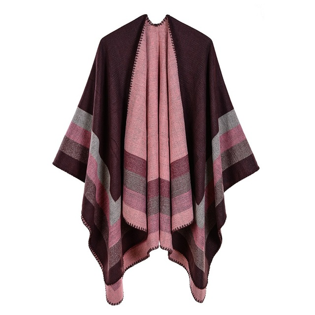 2019 New Womens Winter Scarf Womens Cashmere Ponchos and Capes Fashion Design Pashmina Ladies Knit Shawl Cape Vintage Blanket