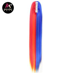 """Image 1 - Miss U Hair 26"""" 65cm 180g Black Red White Green Pink Long Straight Claw Jaw Ponytail Clip In On Hair Extension Accessories"""