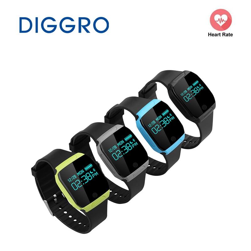 Diggro E07S Braccialetto Intelligente IP67 Impermeabile Orologio Nuoto Salute Attività Fitness Tracker per iOS e Android Smart Wristband
