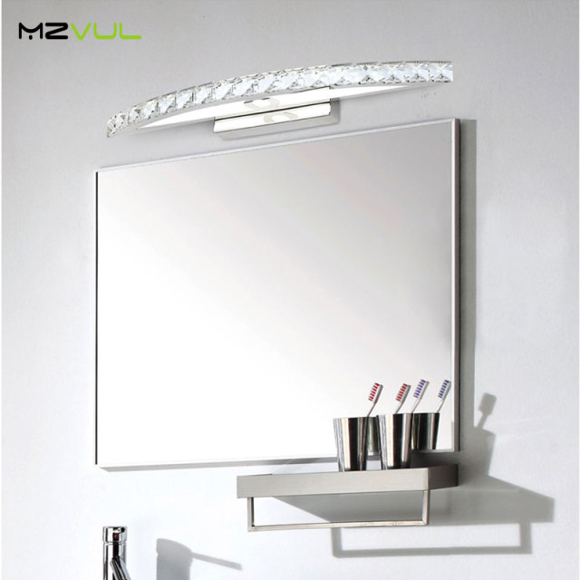 10W 15W  Waterproof LED Bathroom Vanity Crystal Wall Light Mirror Light Fixtures For New Year 44cm 54cm long CE ROHS