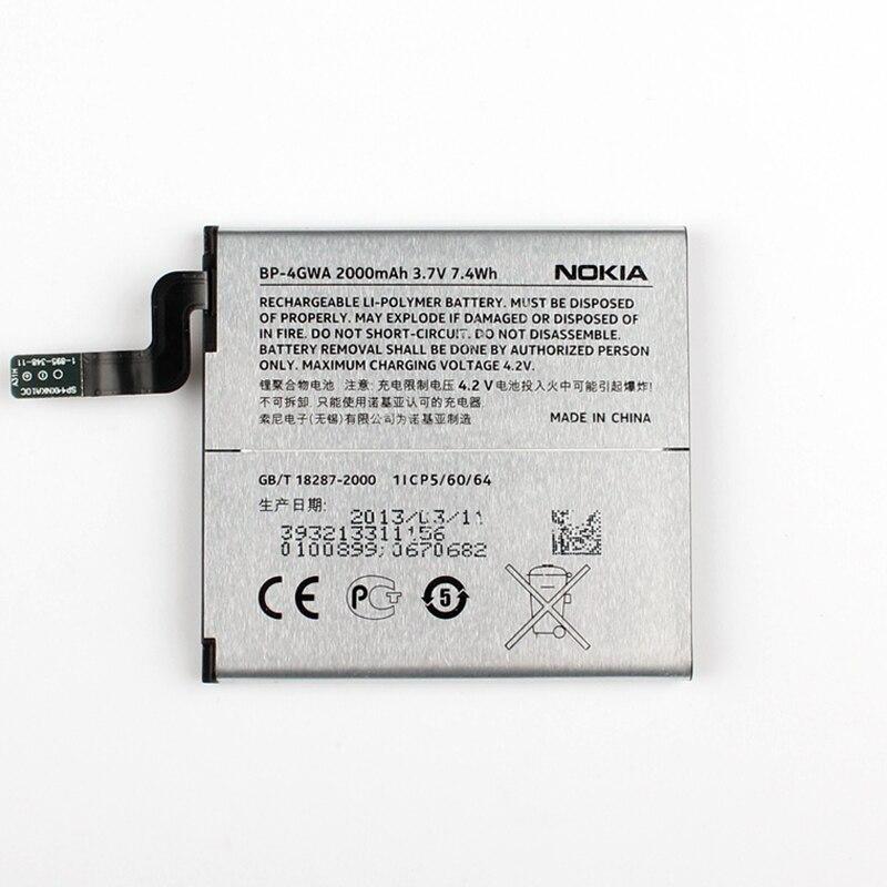 imágenes para Nueva original nokia bp-4gwa batería del teléfono para nokia lumia 625 max lumia625h celo 2000 mah lumia 720 720 t rm-885