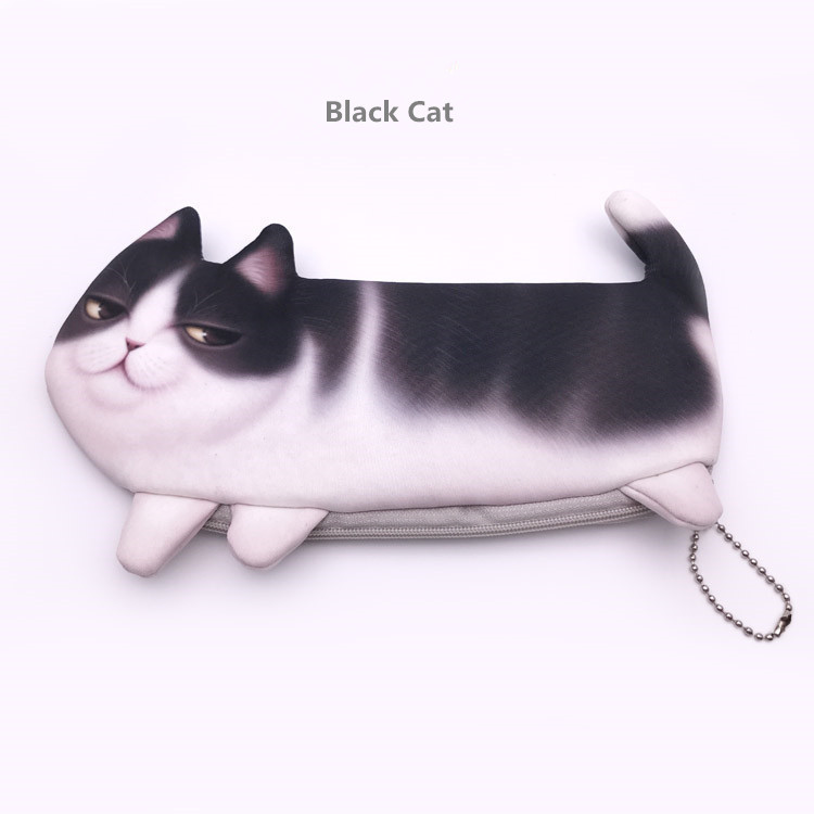 2017 Cute Cat Makeup Case Travel Organizer Cosmetic Bags Neceser Toiletry Cosmetics Pencil Case 3D Printing Storage Pouch Gifts