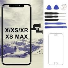For iphone X/XS/XS MAX/XR LCD Screen TM/AMOLED/OEM Quality Display Digitizer Replacement Black No Dead Pixel oem xs xxxl p327