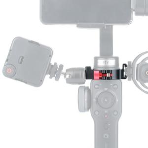 Image 3 - Zhiyun 부드러운 4 액세서리 링 마운트 홀더 클램프 w 콜드 슈 마이크 led 비디오 라이트 필드 모니터 모바일 비디오 메이커