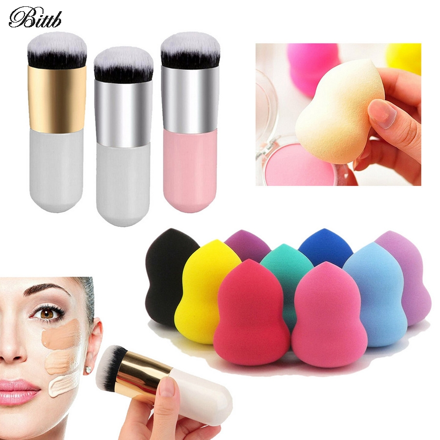 Bittb Beauty Makeup Tool Set Brush Sponge Maquiagem Makeup Brush Dry Wet Cosmetic Puff Blush Foundation BB Cream Puff Makeup Set