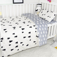 3Pcs Baby Bedding Sets For Newborn Baby Bed Organizer Including Duvet Cover Pillowcase Flat Sheet Dot Pattern Baby Sleeping Set
