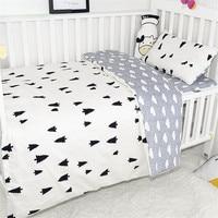 3Pcs Baby Bedding Sets For Newborn Baby Bed Organizer Including Duvet Cover Pillowcase Flat Sheet Dot Pattern Baby Sleeping Set