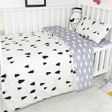 3Pcs Baby Bedding Sets For Newborn Baby