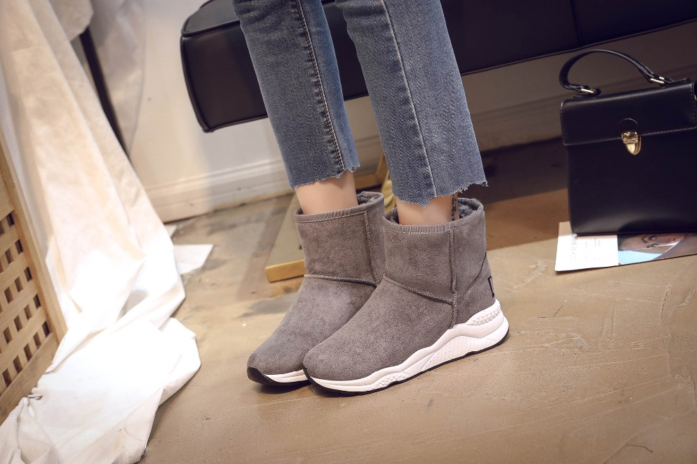 Winter Snow Boots Women Casual Shoes Slip On Warm Plush Women Ankle Boots Flat Heel Sport Ladies Shoes Booties Botas Mujer XZ82 (12)