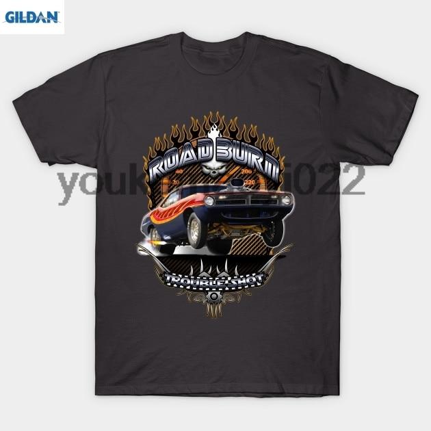 GILDAN Muscle Car - Barracuda Road Burn T-Shirt MEN T-SHIRT