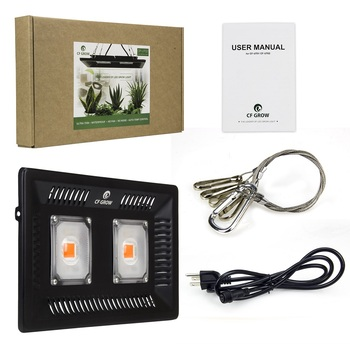 CF GROW Full Spectrum 200W LED Grow Light Waterproof IP67 COB Growth Flood Light for Plant Indoor Hydroponic Greenhouse
