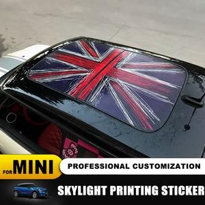 Image 2 - 23 wzór flaga Union Jack/niedźwiedź szyberdach Skylight naklejka ze wzorem dla MINI COOPER F55 F56 F57 F60 R55 R56 R57 R58 R59 R60 R61 naklejki